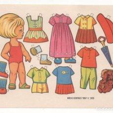 Coleccionismo Recortables: (ALB-TC-10) RECORTABLE LAMINA MUÑECAS RECORTABLES BOGA Nº 303. Lote 81939200