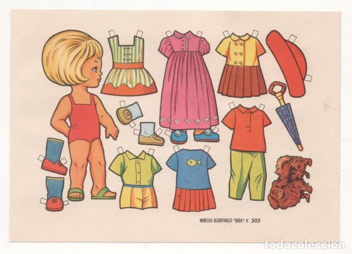 (ALB-TC-10) RECORTABLE LAMINA MUÑECAS RECORTABLES BOGA Nº 303 (Coleccionismo - Recortables - Muñecas)