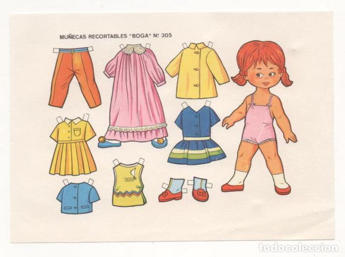 (ALB-TC-10) RECORTABLE LAMINA MUÑECAS RECORTABLES BOGA Nº 305 (Coleccionismo - Recortables - Muñecas)