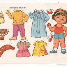 Coleccionismo Recortables: (ALB-TC-10) RECORTABLE LAMINA MUÑECAS RECORTABLES BOGA Nº 307. Lote 81966084