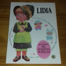 Coleccionismo Recortables: MUÑECA RECORTABLE LIDIA - MIS QUERIDAS MUÑECAS N°6 (BRUGUERA). Lote 84468728