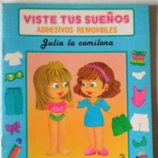 Coleccionismo Recortables: VISTE TUS SUEÑOS JULIA LARA 2 MUÑECAS RECORTABLES VESTIDOS ADHESIVOS 1991 CUENTO NUEVO. Lote 84975796