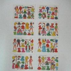 Coleccionismo Recortables: LOTE 10 LAMINAS RECORTABLES - EVA - DEL Nº 801 AL 810 - AÑO 1962. Lote 86532188