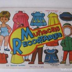 Coleccionismo Recortables: 10 LAMINAS RECORTABLES MUÑECAS EVA 1ª SERIE COMPLETA Nº 831 - 840 AÑO 1964 - NUEVAS. Lote 143640458