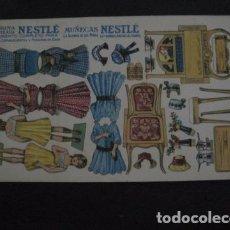 Coleccionismo Recortables: RECORTABLE MUÑECA - CHOCOLATES NESTLE - MUY ANTIGUO -VER FOTOS- (V-11.348). Lote 89093192