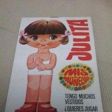 Coleccionismo Recortables: JULITA - MIS MUÑECAS - RECORTABLES DE MUÑECA - EDITORIAL BRUGUERA AÑO 1970N. Lote 89851532