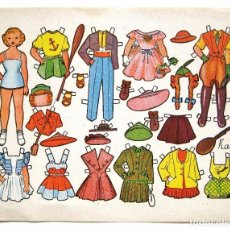 Coleccionismo Recortables: LAMINA RECORTABLES MUÑECAS MODELO KATI AÑOS 50. Lote 90216768