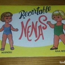 Coleccionismo Recortables: LIBRITO RECORTABLE NENAS. MANOLI - ANA ROSA N° 7. Lote 93119330