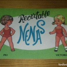 Coleccionismo Recortables: LIBRITO RECORTABLE NENAS. PILI - VICTORIA N° 8. Lote 93119515