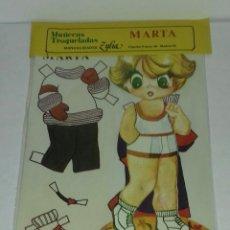 Coleccionismo Recortables: MUÑECA RECORTABLE MARTA. ZULIA. Lote 93123945