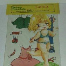 Coleccionismo Recortables: MUÑECA RECORTABLE LAURA. ZULIA. Lote 93124055