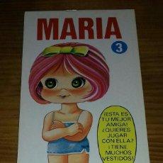 Collectionnisme Images à Découper: LIBRITO MUÑECA RECORTABLE MARIA. N°3 EDICIONES DRUIDA. Lote 93126075