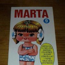 Collectionnisme Images à Découper: LIBRITO MUÑECA RECORTABLE MARTA N° 9. EDICIONES DRUIDA. Lote 93127305