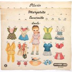 Coleccionismo Recortables: LOTE COMPLETO 4 RECORTABLES DE MUÑECAS: AMELIA, ENCARNITA, MARGARITA, PILARIN EDICIONES JARA AÑOS 40. Lote 94223430