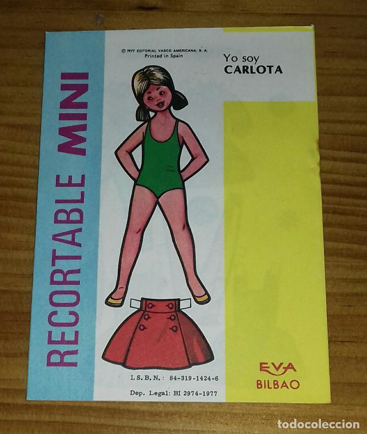 Coleccionismo Recortables: Recortable Mini N° 15 Charo - Carlota - Foto 2 - 94762031