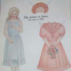 Coleccionismo Recortables: MUÑECA RECORTABLE JANA, DOS HOJAS DE REVISTA 1989. Lote 94791931