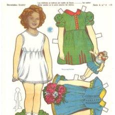 Coleccionismo Recortables: SHIRLEY TEMPLE VESTIDOS RECORTABLE TROQUELADO RECORTABLES BABY SERIE A Nº 4. Lote 97720987