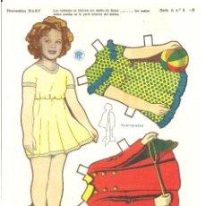 Coleccionismo Recortables: SHIRLEY TEMPLE VESTIDOS RECORTABLE TROQUELADO RECORTABLES BABY SERIE A Nº 5. Lote 97721139