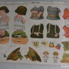 Coleccionismo Recortables: RECORTABLE DE MUÑECA MARÍA LUISA DE EDICIONES LA TIJERA. AÑOS 30. Lote 98060099
