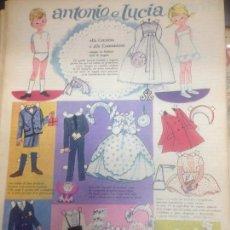 Coleccionismo Recortables: RECORTABLE ANTONIO E LUCIA COMUNIONE . Lote 98440243