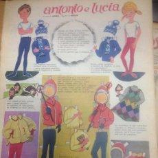 Coleccionismo Recortables: RECORTABLE ANTONIO E LUCIA INVIERNO. Lote 98440351