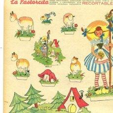 Coleccionismo Recortables: RECORTABLE MUÑECA LA PASTORCITA ENTRA DE REVISTA FLECHAS Y PELAYOS Nº 17. Lote 98477759
