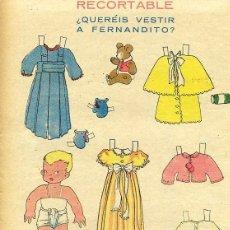 Coleccionismo Recortables: RECORTABLE MUÑECA ENTREGA DE REVISTA FLECHAS Y PELAYOS Nº 15. Lote 98477811
