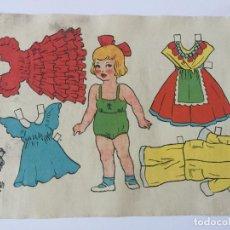 Coleccionismo Recortables: RECORTABLE MUÑECA. EMULSION SCOTT.. Lote 98709423