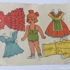 Coleccionismo Recortables: RECORTABLE MUÑECA. EMULSION SCOTT.. Lote 98710271
