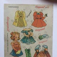 Coleccionismo Recortables: RECORTABLE CEREGUMIL MUÑECAS Nº47.. Lote 98712707