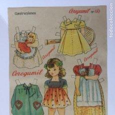 Coleccionismo Recortables: RECORTABLE CEREGUMIL MUÑECAS Nº40.. Lote 98712847