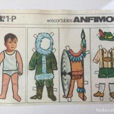 Coleccionismo Recortables: RECORTABLE ANFIMON. Nº 1-P. Lote 98714627