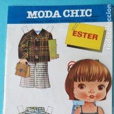 Coleccionismo Recortables: RECORTABLE ESTER. MODA CHIC. EDICIONES BEASCOA. AÑOS 70. NUEVO.. Lote 99304891