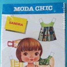 Coleccionismo Recortables: RECORTABLE SANDRA. MODA CHIC. EDICIONES BEASCOA. AÑOS 70. NUEVO.. Lote 99305039