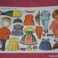 Coleccionismo Recortables: LAMINA MUÑECAS RECORTABLES EVA , Nº 836 . ORIGINAL AÑOS 60. Lote 99693639