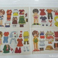 Coleccionismo Recortables: 4 LAMINAS RECORDABLES - RECORTES ELENA, ANA, CHOPIN, CARMEN - AÑO 1978. Lote 99705335
