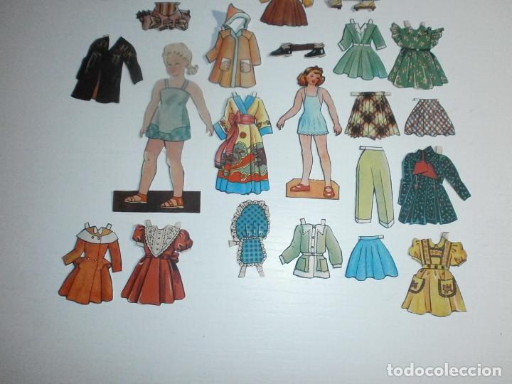 Coleccionismo Recortables: RECORTABLE MUÑECA CON VESTIDOS AÑOS 1960 APROX RECORTABLES - Foto 3 - 99730603