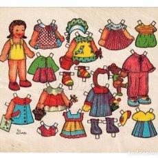 Coleccionismo Recortables: LAMINA RECORTABLES MUÑECAS DIBUJADO POR FLORES AÑOS 50. Lote 100521459