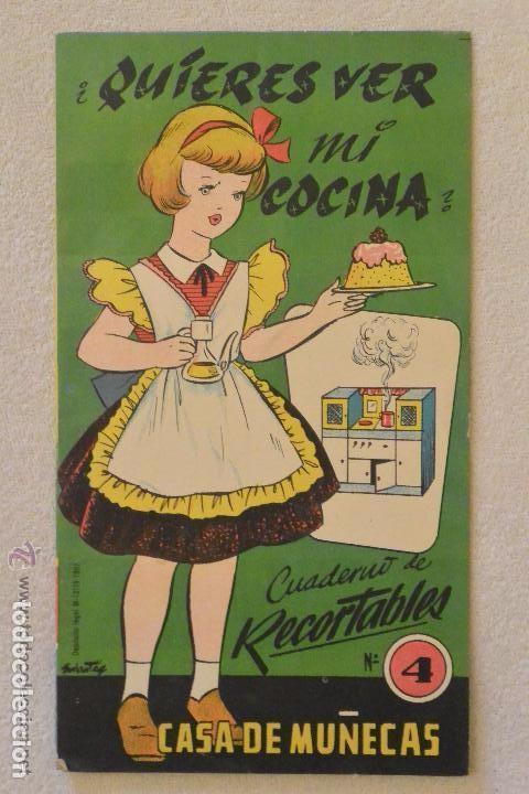 CUADERNO RECORTABLE QUIERES VER MI COCINA DE CASA MUÑECAS Nº 4 (Coleccionismo - Recortables - Muñecas)