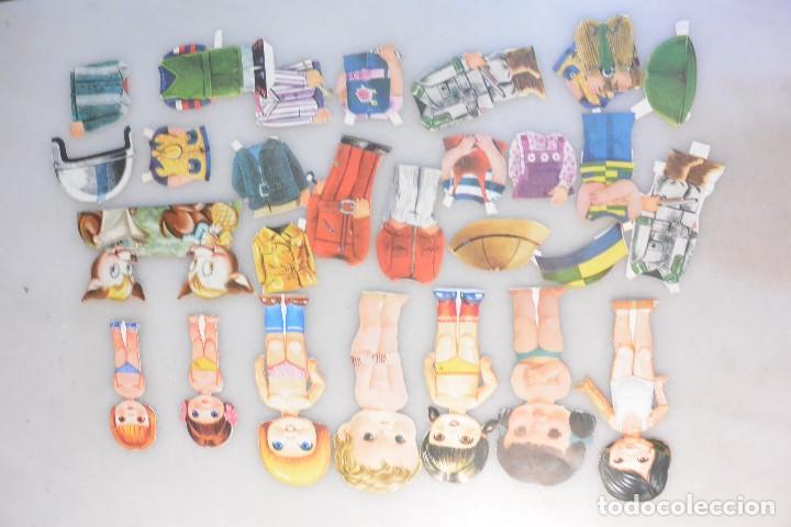 Coleccionismo Recortables: LOTE DE 7 MUÑECAS RECORTABLES Y 20 ROPITAS . MARCA DESCONOCIDA - Foto 2 - 103592899