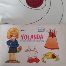 Coleccionismo Recortables: LOTE 10 LÁMINAS DE RECORTABLES ZULIA SERIE YOLANDA. Lote 128230212