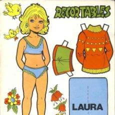 Coleccionismo Recortables: RECORTABLE DE MUÑECAS: RECORTABLES, LAURA, JORGE. Lote 192223091