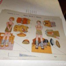 Coleccionismo Recortables: RECORTABLE DE PRINCIPIOS DE LOS 50 ,CONSTRUCIONES EL NIÑO ,PAPEL TIPO ESTRAZA. Lote 107899727