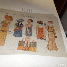 Coleccionismo Recortables: RECORTABLE PRINCIPIOS DE LOS 50 ,CONSTRUCIONES EL NIÑO , PAPEL TIPO ESTRAZA. Lote 107899795