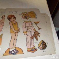 Coleccionismo Recortables: RECORTABLE PRINCIPIOS DE LOS 50 ,PAPEL TIPO ESTRAZA. Lote 107900111