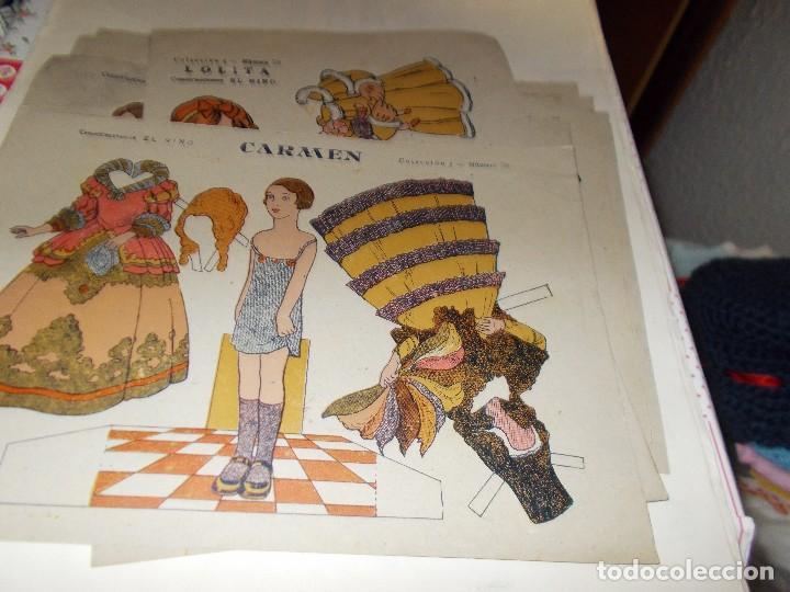 RECORTABLE PRINCIPIOS DE LOS 50 ,PAPEL TIPO ESTRAZA (Coleccionismo - Recortables - Muñecas)
