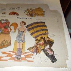 Coleccionismo Recortables: RECORTABLE PRINCIPIOS DE LOS 50 ,PAPEL TIPO ESTRAZA. Lote 107900199