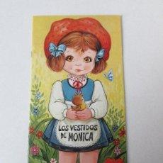 Coleccionismo Recortables: LOS VESTIDOS DE MONICA LIBRO DE RECORTABLES PUBLICACIONES FHER 1.984. Lote 108689451