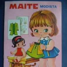 Coleccionismo Recortables: CUENTO CON VESTIDITOS RECORTABLES MAITE MODISTA. Lote 111101559