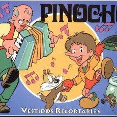 Coleccionismo Recortables: ALBUM RECORTABLE PINOCHO (4 PÁGS. CON VESTIDOS.). Lote 27323364